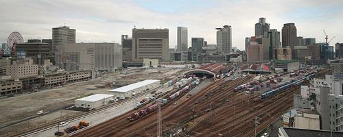 2006年の梅田街並み