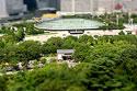 大阪城で箱庭写真(城ホール)