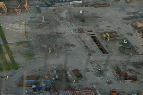 北ヤード工事現場