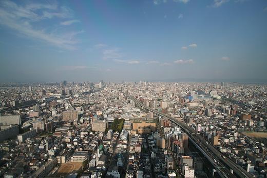 大阪市を一望