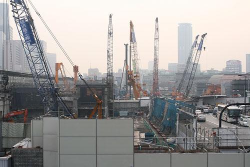 大阪駅北ビル建設現場1