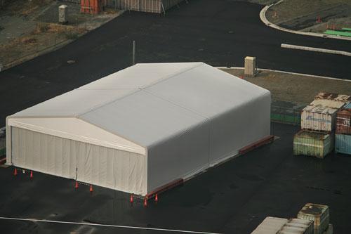 倉庫テント拡大