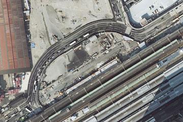 駅北の迂回道路