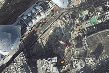 建設中のブリーゼタワー
