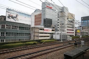 阪急電車から茶屋町方面