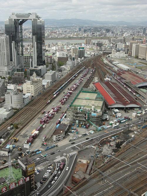 梅田北ヤード(スカイビル寄り)