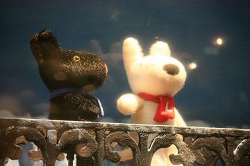 阪急コンコース「雪降るウインドー」3