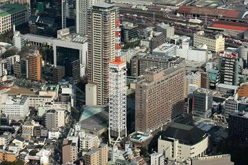朝日放送旧社屋+大阪タワー1
