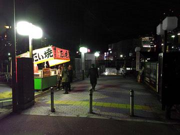 梅田シティ前 白い鯛焼き1