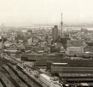 1977年_阪急グランドビルから大淀