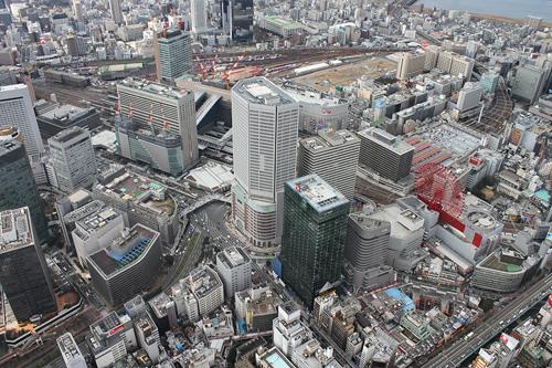 空から梅田ウォッチング(JR大阪駅・阪急百貨店・阪神百貨店)