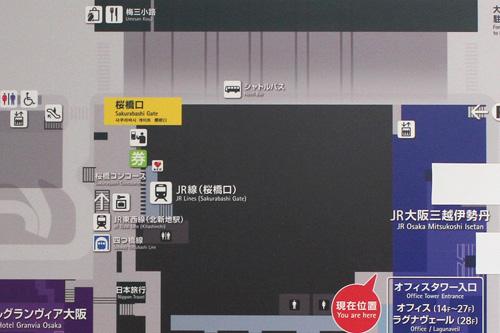 大阪駅の構内図2011年5月