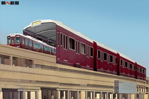阪急 電車型駅舎