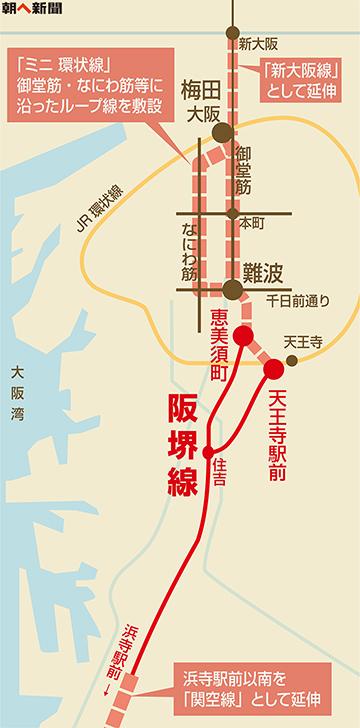 朝屁新聞 阪堺電車延伸 地図