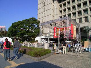 阪神パレード準備