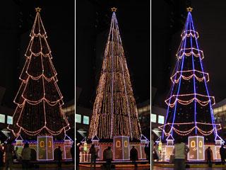 スカイビルのクリスマスツリー2
