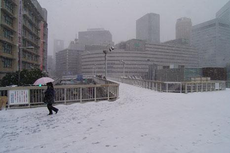 雪の歩道橋1