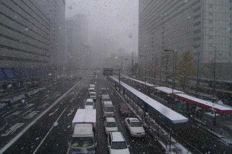 雪の歩道橋2