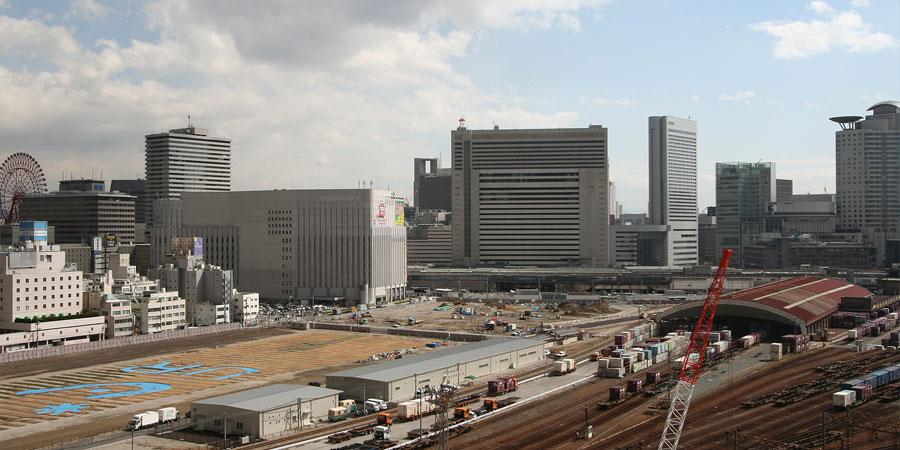 b0bd81148dd3f 大阪梅田の再開発をじっくりと定点観測してみるブログ | 工事車両用の ...
